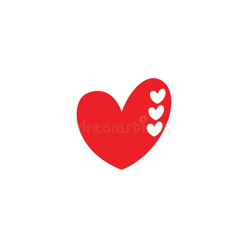 Concepto artístico del logotipo del icono de la muestra linda del amor ilustración del vector
