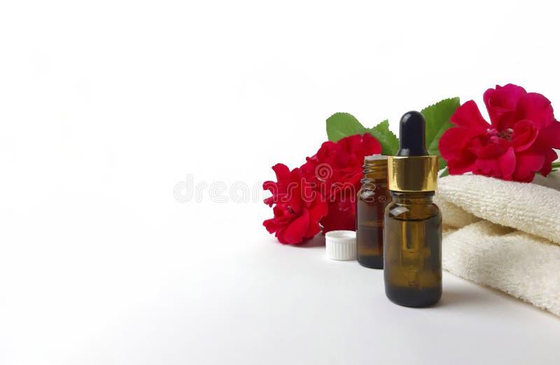 Concepto ascendente falso del aromatherapy del balneario foto de archivo libre de regalías