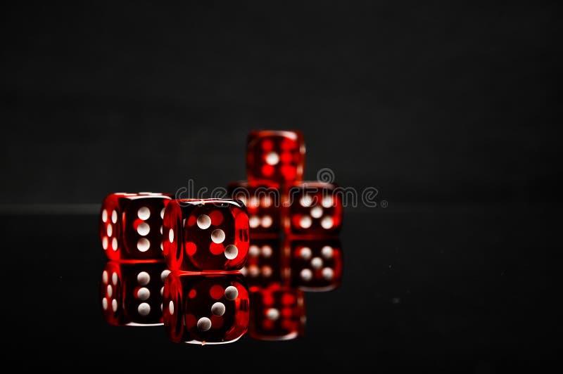 Concepto atmosférico del casino con la luz ambiente imagenes de archivo