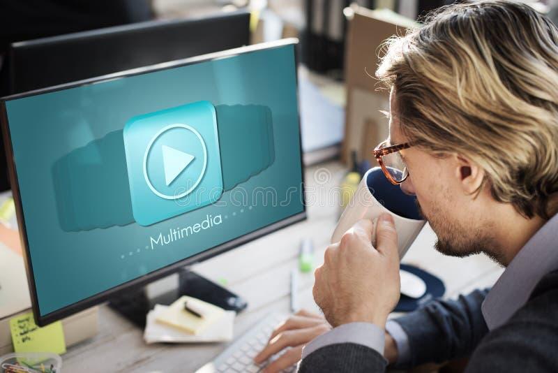 Concepto audio del entretenimiento de Digitaces del ordenador de las multimedias imagenes de archivo