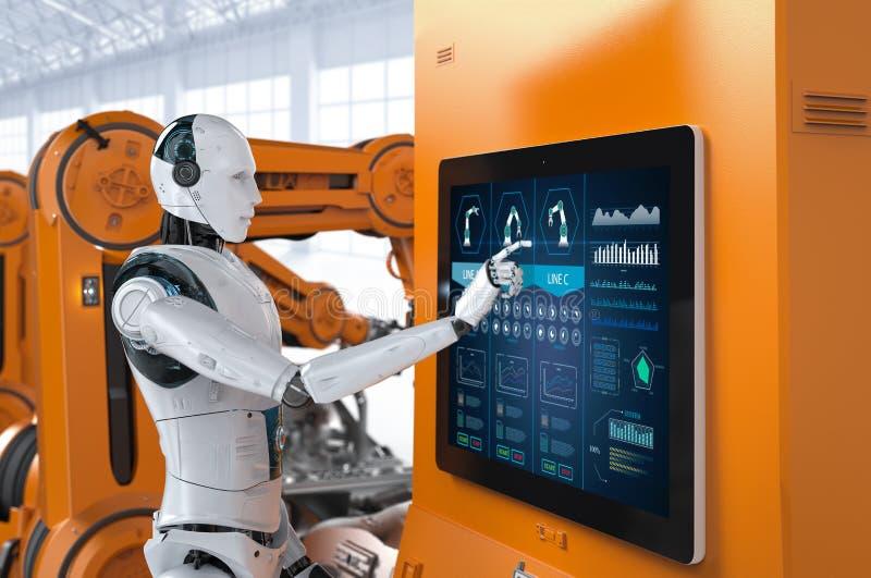 Concepto aumobile de la fábrica de la automatización libre illustration
