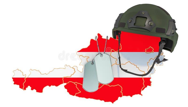 Concepto austríaco de la fuerza militar, del ejército o de la guerra representaci?n 3d libre illustration