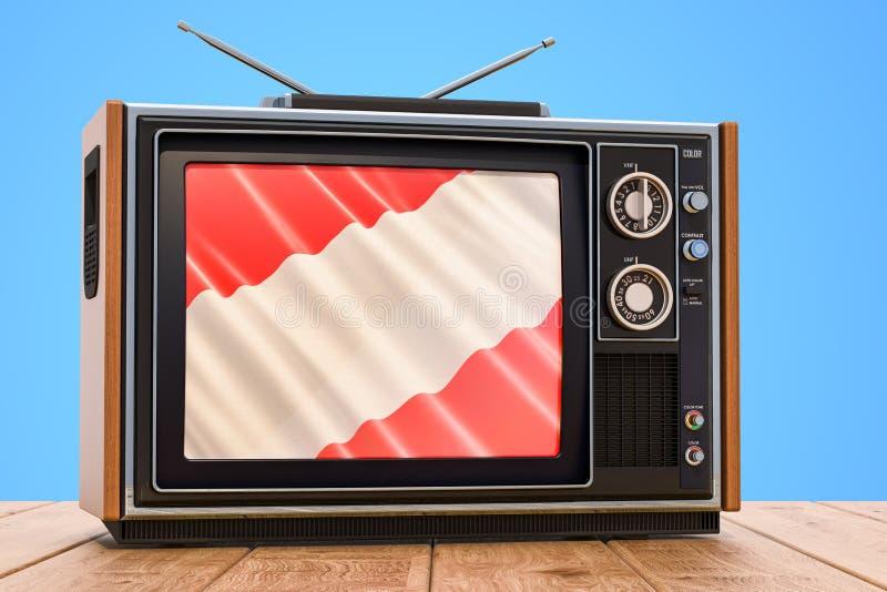 Concepto austríaco de la televisión, 3D libre illustration