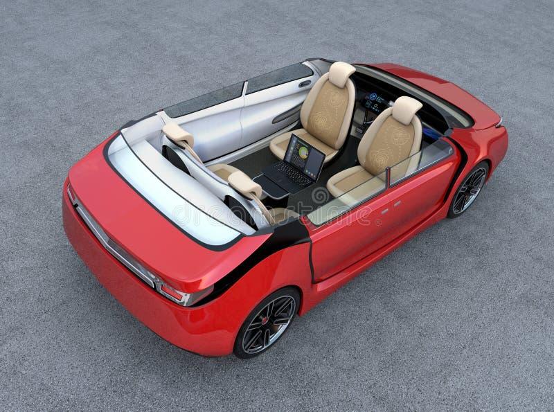 Concepto autónomo del interior del coche libre illustration