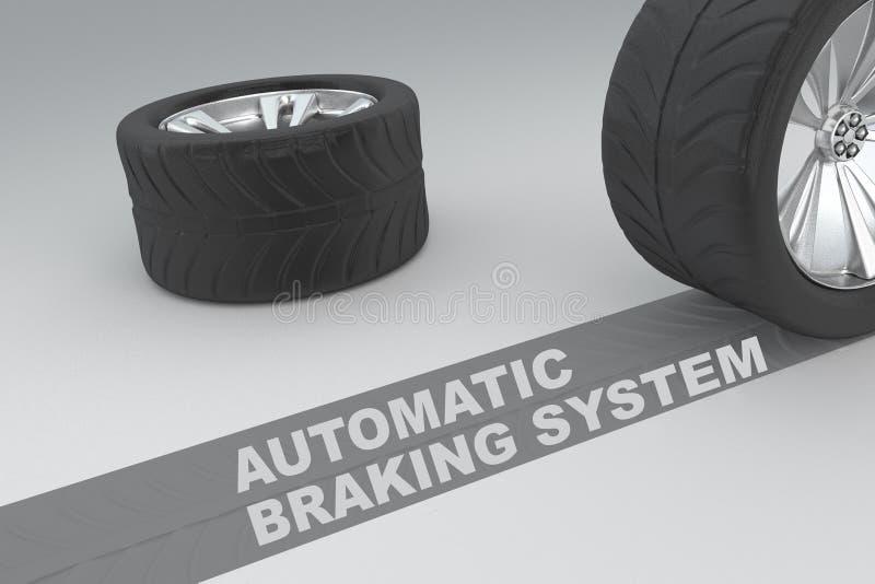 Concepto automático del sistema de frenos libre illustration
