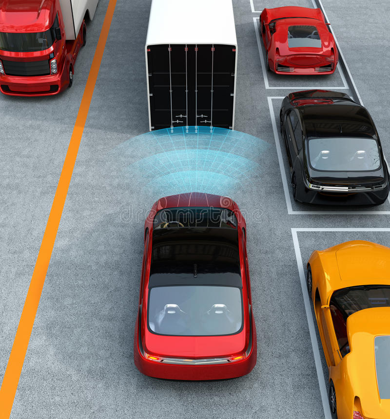 Concepto automático del sistema de frenos ilustración del vector