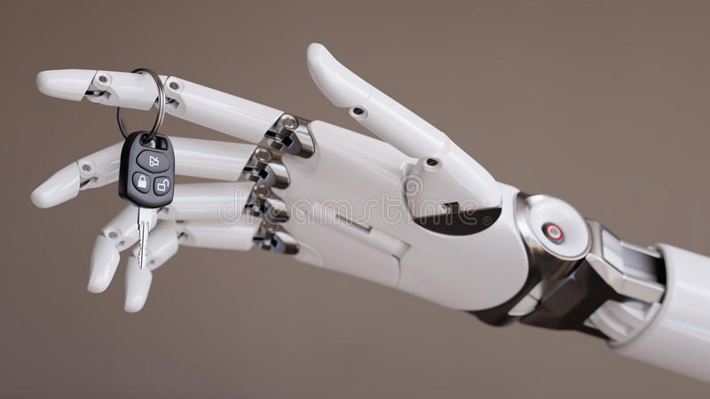 Concepto automatizado inteligente del ejemplo de Assist System 3d del conductor ilustración del vector