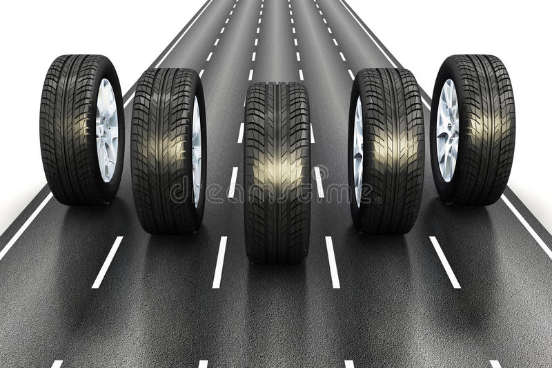 Concepto automotriz ilustración del vector