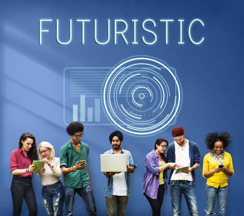 Concepto avanzado futurista de la innovación de Digitaces de la tecnología fotografía de archivo