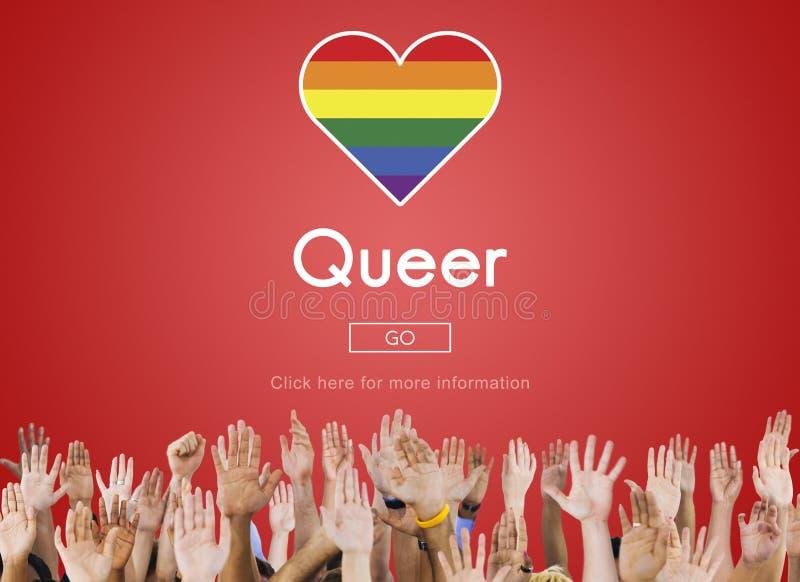 Concepto bisexual gay lesbiano raro del transexual de LGBT fotografía de archivo libre de regalías