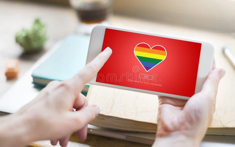 Concepto bisexual homosexual orgulloso del transexual de Lgbt fotos de archivo