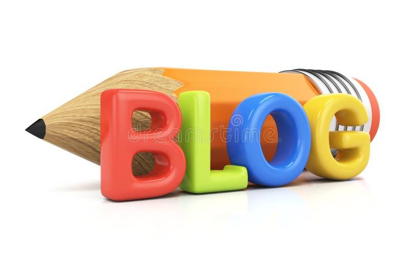 Concepto Blogging stock de ilustración