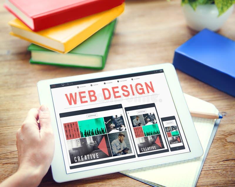 Concepto Blogging de la disposición de la tecnología de programación del diseño web imagenes de archivo