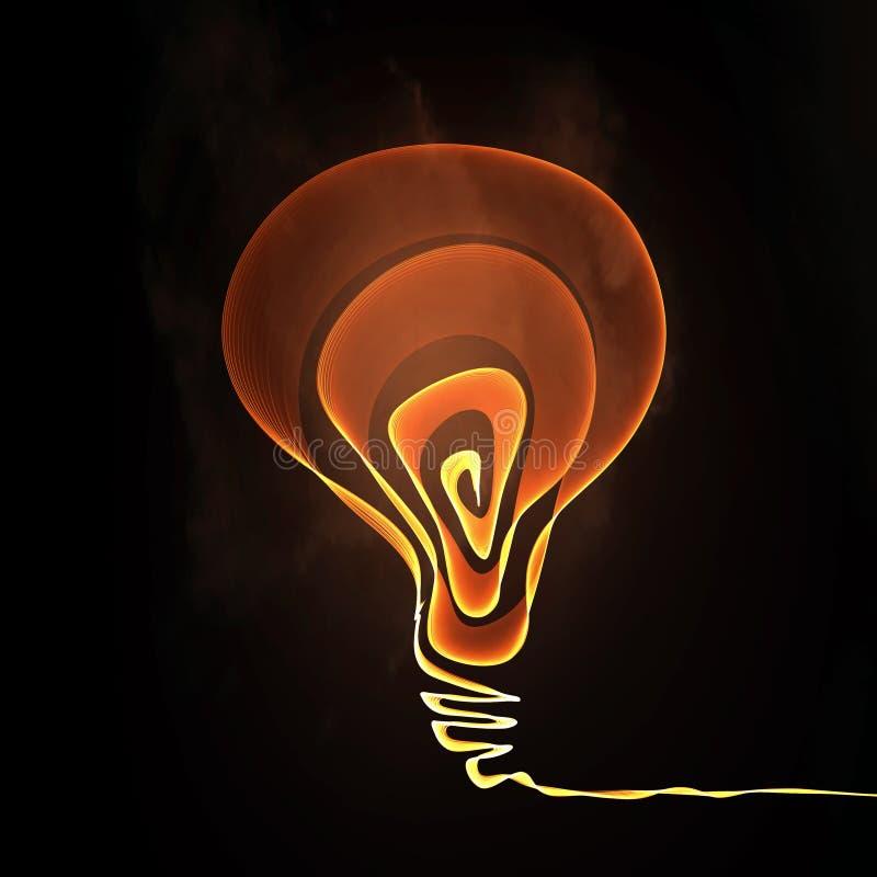 Concepto brillante de la idea ilustración del vector