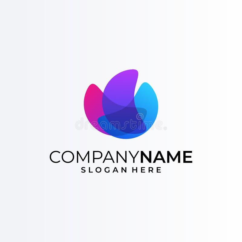 Concepto brillante de la plantilla del logotipo del vector de los colores ilustración del vector