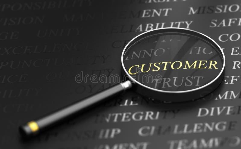 Concepto céntrico del cliente ilustración del vector
