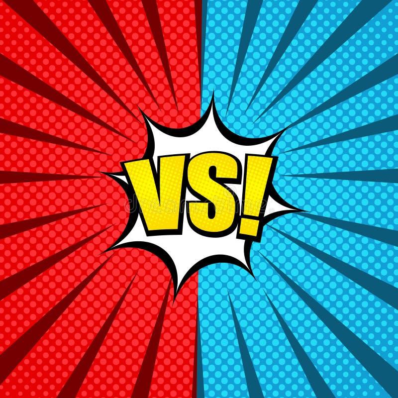 Concepto cómico del explosivo del duelo ilustración del vector