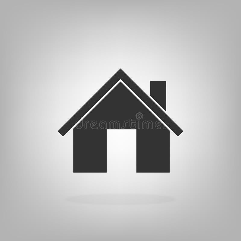 Concepto casero de las propiedades inmobiliarias del ejemplo del vector del icono de la casa para el diseño gráfico, logotipo, si ilustración del vector