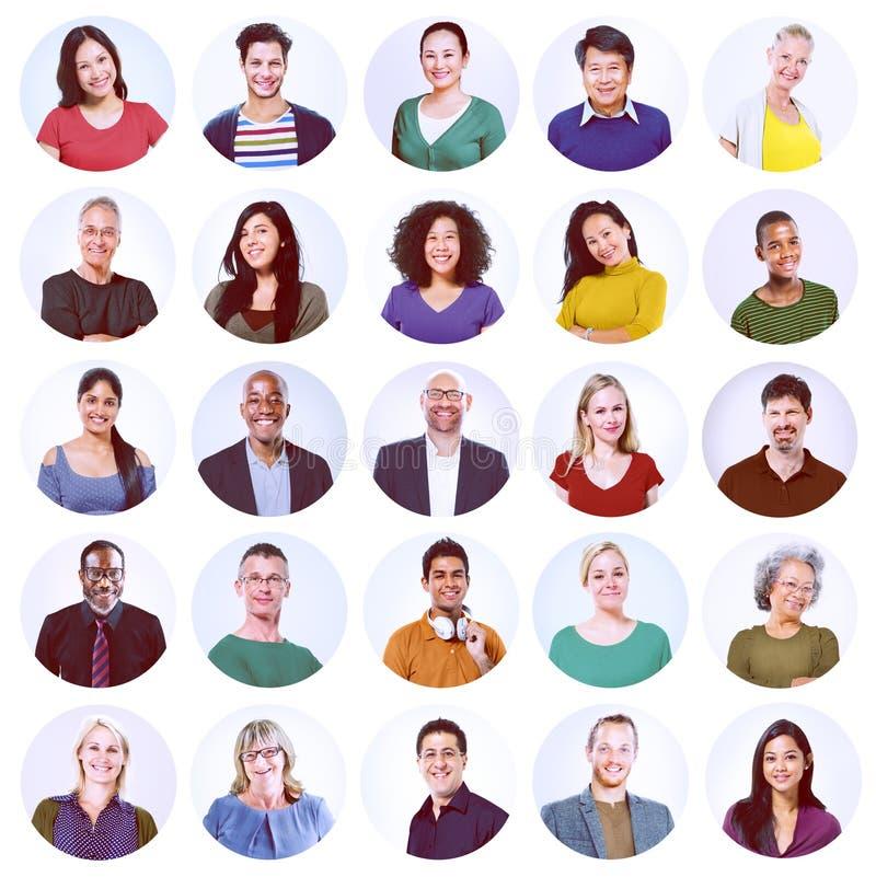Concepto casual de la variación étnica multi diversa de la gente fotos de archivo libres de regalías