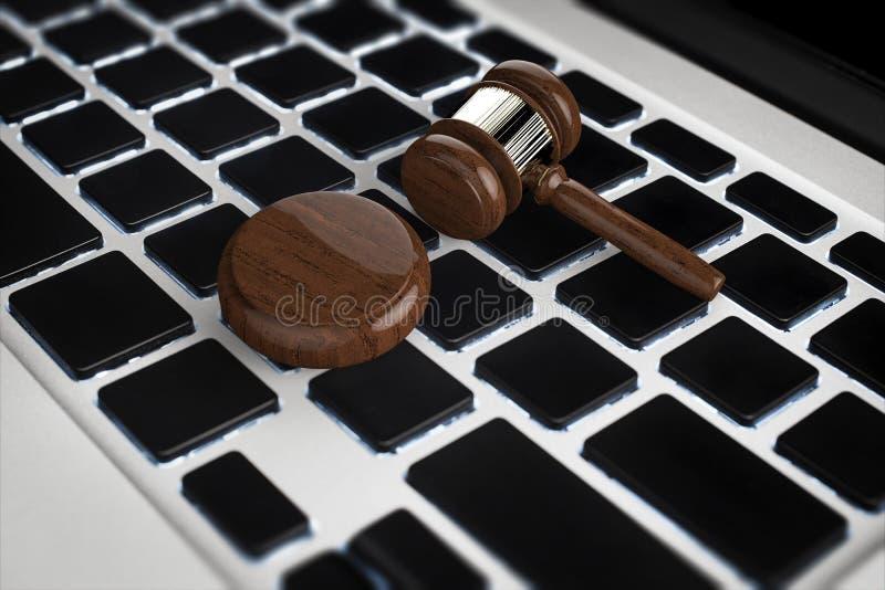 Concepto cibernético de la ley stock de ilustración