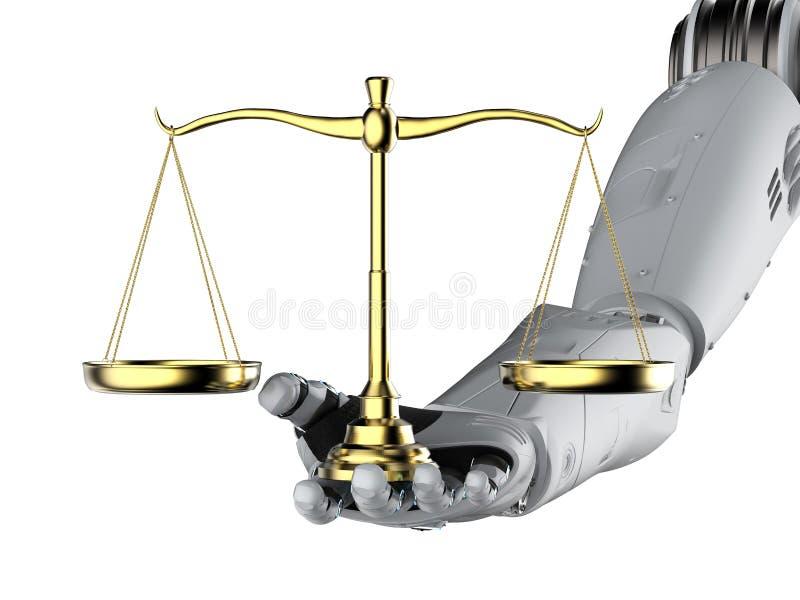 Concepto cibernético de la ley o de la ley de Internet stock de ilustración