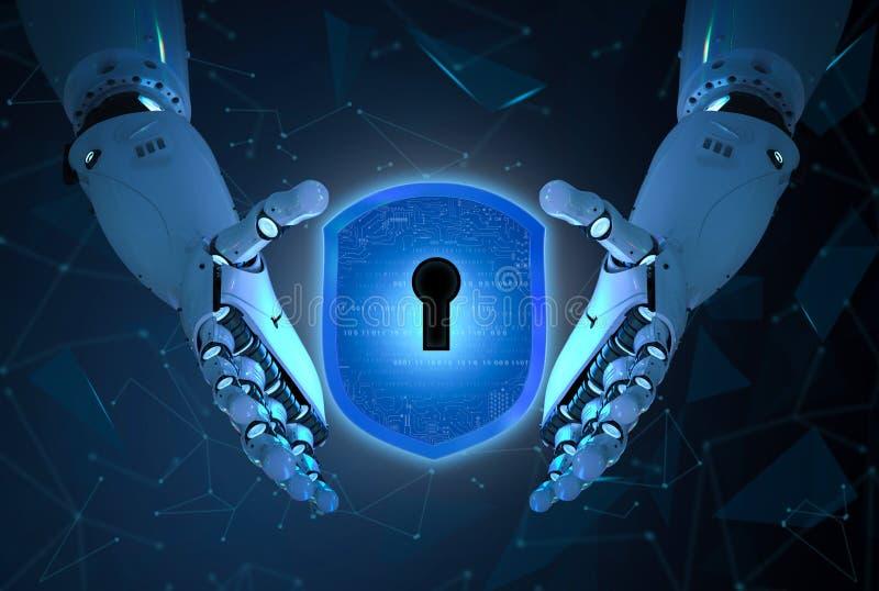 Concepto cibernético de la seguridad fotografía de archivo libre de regalías