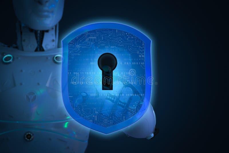 Concepto cibernético de la seguridad fotos de archivo