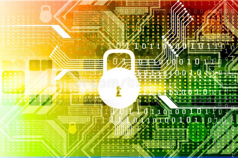 Concepto cibernético de la seguridad stock de ilustración