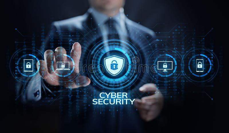 Concepto cibernético de la tecnología de Internet de la aislamiento de la información de la protección de datos de la seguridad foto de archivo libre de regalías
