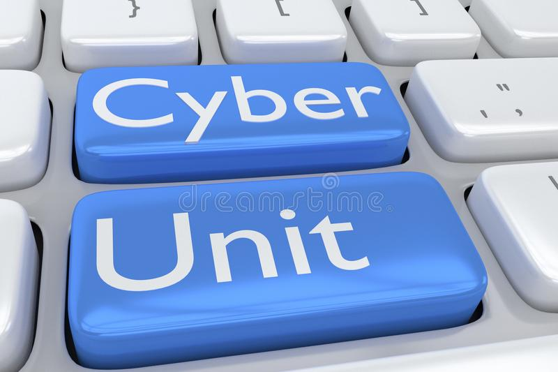 Concepto cibernético de la unidad libre illustration