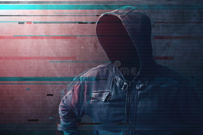 Concepto cibernético del crimen y de la seguridad de la red foto de archivo