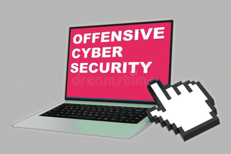 Concepto cibernético ofensivo de la seguridad stock de ilustración