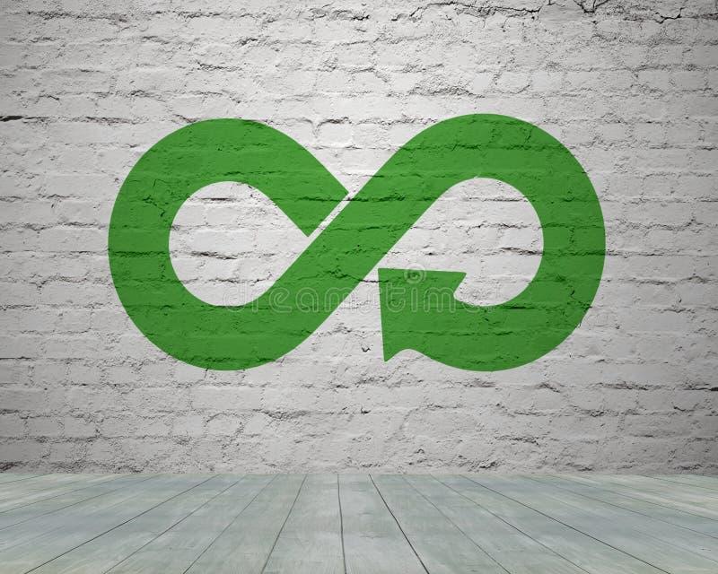 Concepto circular verde de la economía foto de archivo libre de regalías