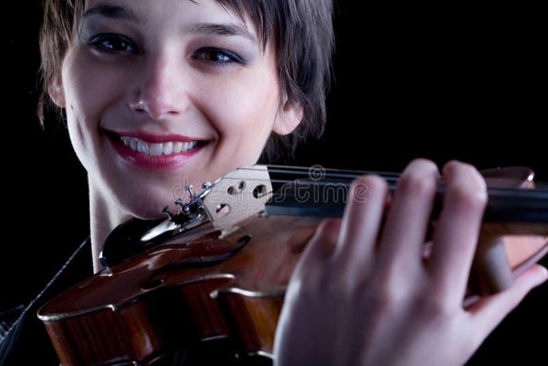 Concepto clásico de la música - violín imagen de archivo libre de regalías