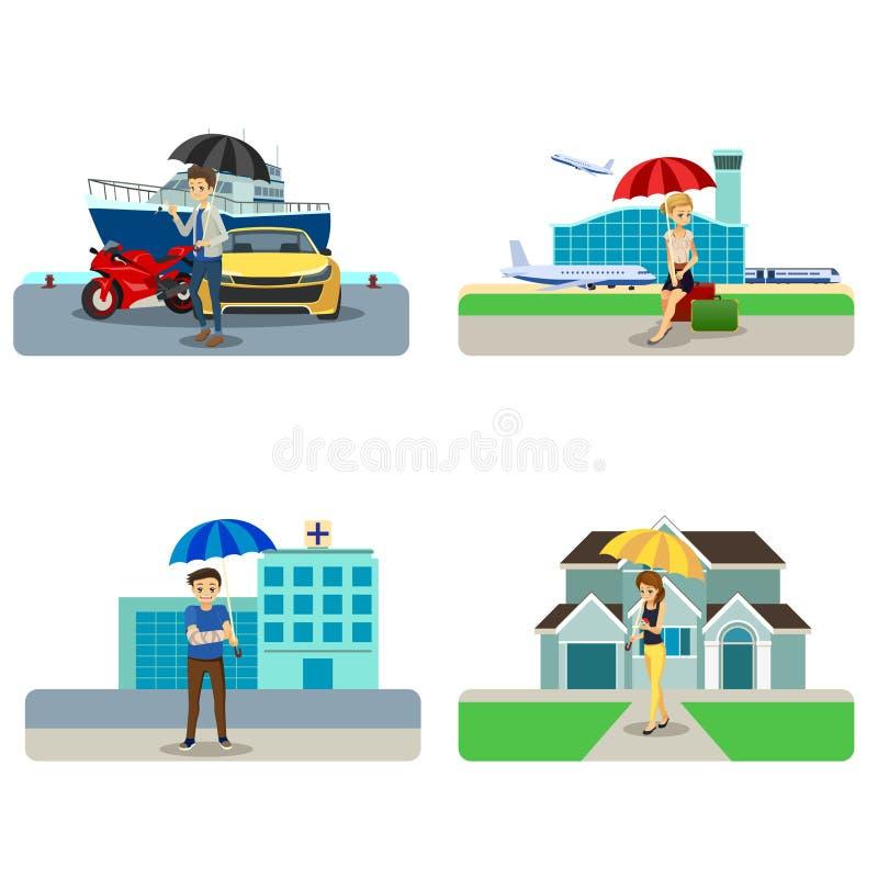 Concepto Cliparts del seguro libre illustration