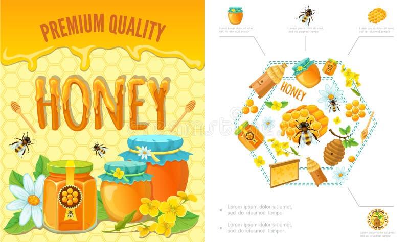 Concepto colorido de la apicultura de la historieta libre illustration