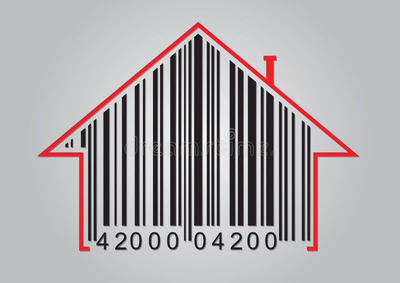 Concepto comercial con el código de barras