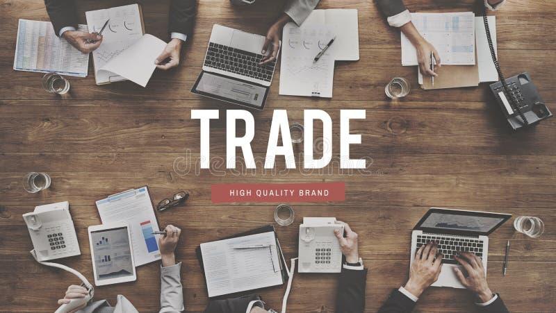 Concepto comercial del comercio de la mercancía del intercambio del trato del intercambio imagenes de archivo