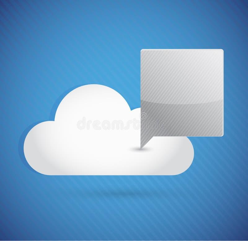 Concepto computacional de la comunicación de la nube stock de ilustración