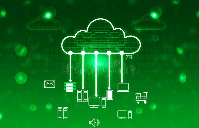Concepto computacional de la nube imagen de archivo