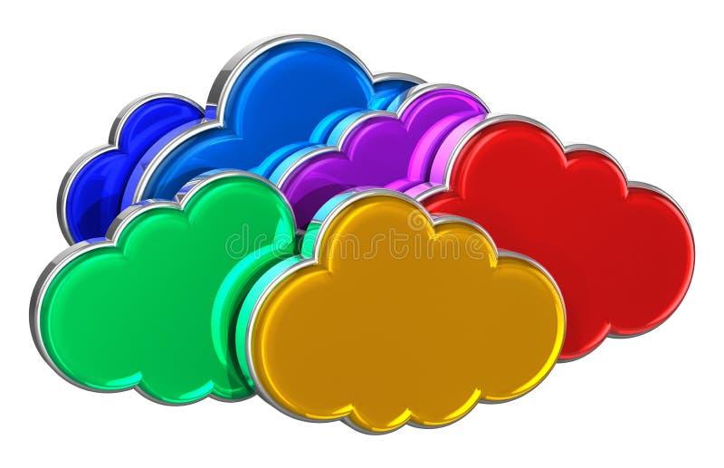 Concepto computacional de la nube ilustración del vector