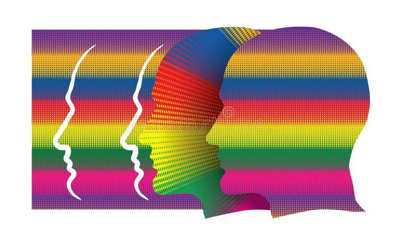 Concepto con perfiles humanos coloridos libre illustration