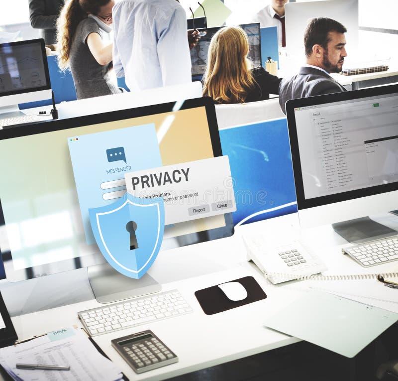 Concepto confidencial de la soledad de la seguridad de la protección de la privacidad fotografía de archivo libre de regalías