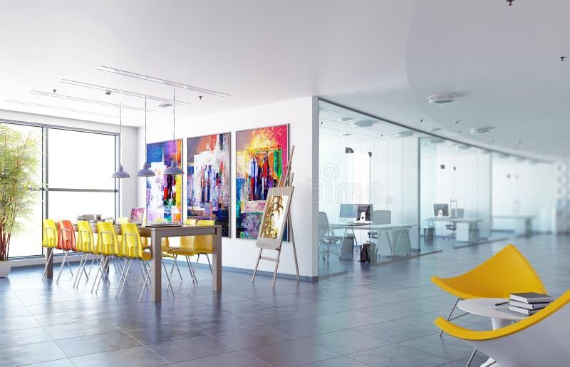 Concepto contemporáneo de la oficina en diseño ilustración del vector