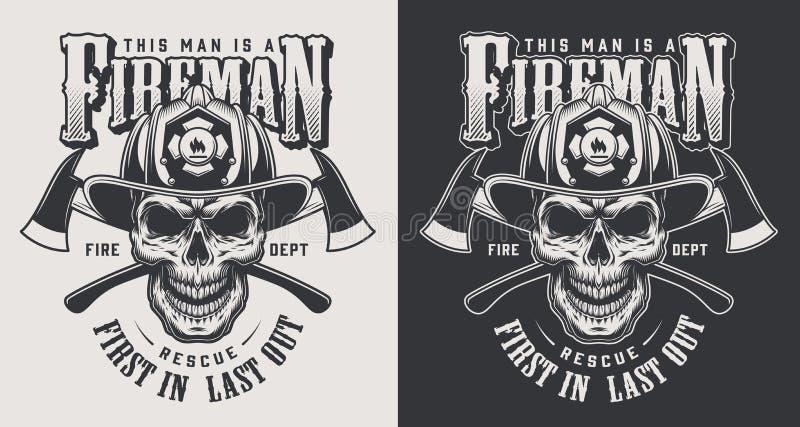 Concepto contraincendios del logotipo del vintage libre illustration