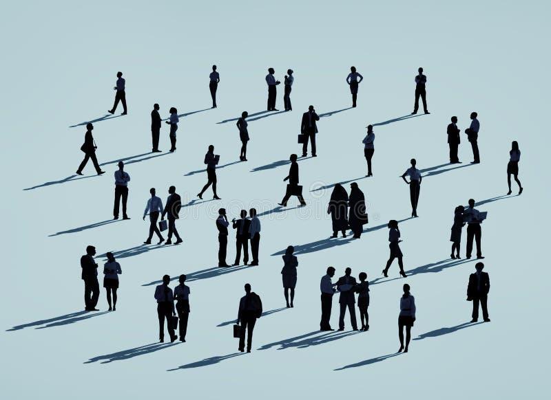 Concepto corporativo de la silueta de la gente del negocio ilustración del vector