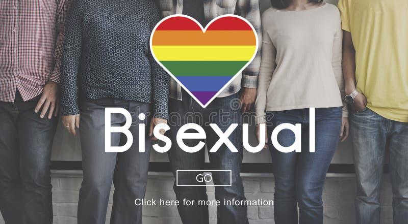 Concepto correcto personal homosexual bisexual del transexual foto de archivo