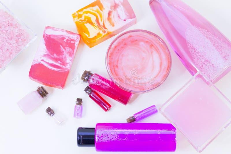 Concepto cosmético color de rosa natural imagen de archivo libre de regalías