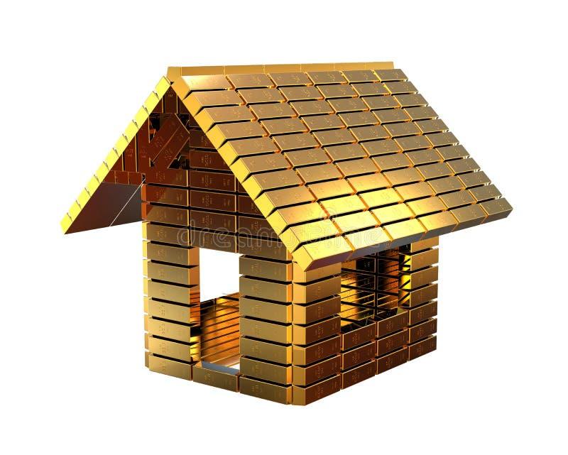 Concepto costoso de la casa ilustración del vector