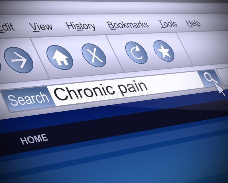 Concepto crónico del dolor. ilustración del vector